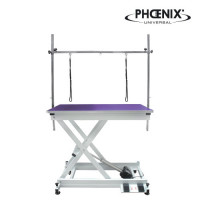 elektrischer Trimmtisch 110 x 60cm Tischplatte Lila, bis 100 kg