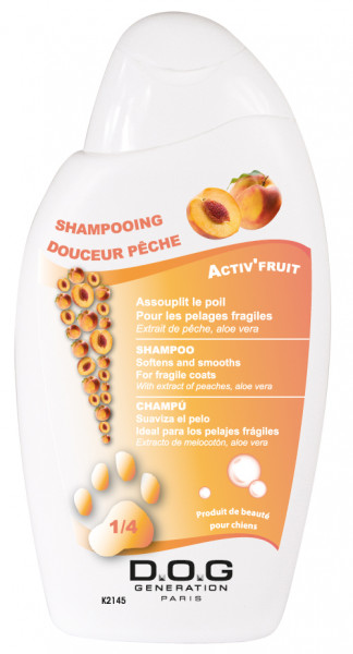 Dog Génération® Shampoo tiefenwirksames Pflegeshampoo mit Pfirsich-Extrakten 250ml