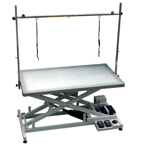 elektrischer Trimmtisch 120 x 60cm mit beleuchteter Tischpla