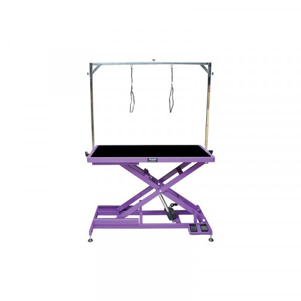 elektrischer Schertisch 125 x 65cm Tischplatte Lila
