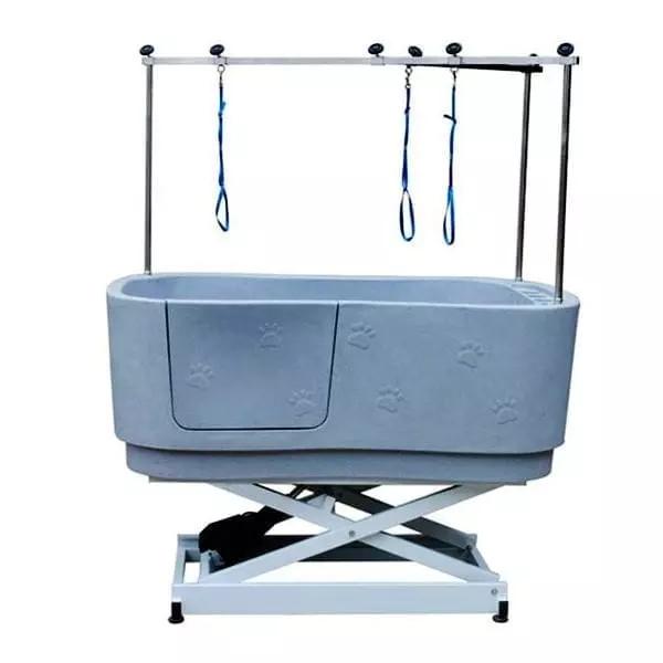elektrische Hundebadewanne - Hebevorrichtung Höhe 43-128 Grau